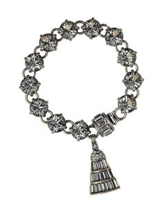 THE ANNÉES FOLLES COLLECTION / Josephine Swarovski crystal charm bracelet. Pre-Fall 2013 Collection