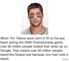 I'm not a Tebow fan. but this is so amazing I might like him a little more after this. :)