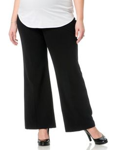 698da1f72ce34 duo™ Maternity Overbelly Straight-Leg Pants - Plus found at ...