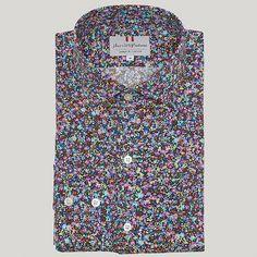 Multi Floral Print Cotton Shirt
