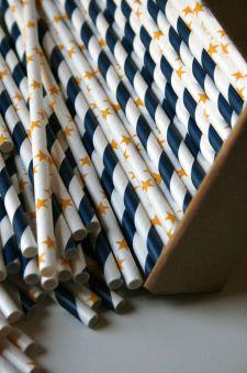 Starry Night Paper Straw Mix