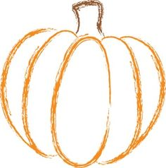 Pumpkin Clipart Image - The orange outline of an autumn pumpkin - ClipArt Best - ClipArt Best