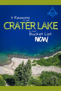 Crater Lake National Park is a brilliant blue lake in Oregon. Check out these 3 reasons to add it to your bucket list now!