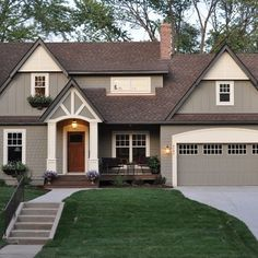 Exterior House Colors With Brown Roof Home Design Ideas, Pictures, Remodel and Decor