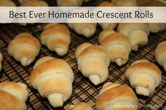 Once you eat a homemade crescent roll, you'll never want to buy store bought ones again! Try this recipe for the best ever homemade crescent rolls. You can even make them ahead of time and store them in the freezer.