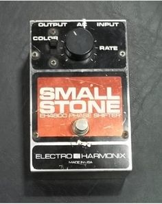 """Late '70s EHX Small Stone Phaser. Had one, loved it. Gave it away in a fit of niceness to a guitarist whose last name was German for """"little stone."""" Seemed the right thing to do, but I miss it..."""