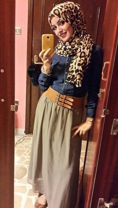 love the leopard print #hijab #hijabi #style #fashion #maxi #skirt