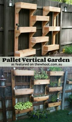 Maybe I could keep these alive? LOL! Pallet Garden