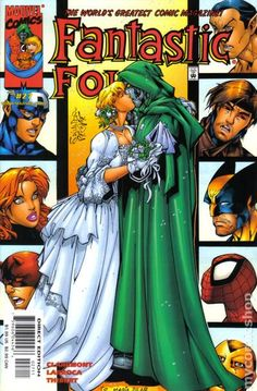 Mr Fantastic comic cover wedding | Fantastic Four (1998 3rd Series) comic books