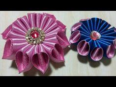 73) Tutorial bunga galau || Easy Kanzashi Flower - YouTube