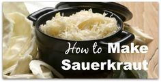 Sauerkraut is made by pickling cabbage in a process called lacto-fermentation. It's rich in enzymes that aid digestion and promote nutrient assimilation. Load Up On Vitamins and Probiotics With This Homemade Sauerkraut Easy Sauerkraut Recipe, Homemade Sauerkraut, Fermented Sauerkraut, Fermented Cabbage, Probiotic Foods, Fermented Foods, Cooking Recipes, Healthy Recipes, Skinny Recipes