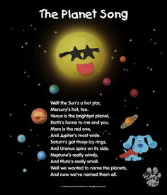 """Blue's Clues: """"The Planets Song""""...A Blues Clues Lens http://www.nickjr.com/kids-videos/blues-clues-the-planets-song.html"""