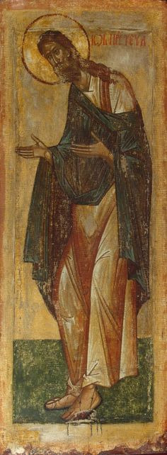 Icon: St John the Baptist. Religious Images, Religious Icons, Religious Art, Byzantine Art, Byzantine Icons, Like Icon, Bible Illustrations, Russian Icons, Hermitage Museum
