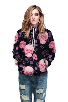 Graphic hoodies with Scary human skull print long sleeve hoodie – menlivestyle Printed Hoodies, Human Skull, Skull Print, Hooded Sweater, Cargo Pants, Christmas Sweaters, Scary, Long Sleeve, Sleeves