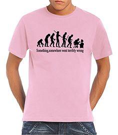Touchlines - Camiseta de running para hombre, tamaño XL, color rosa #regalo #arte #geek #camiseta