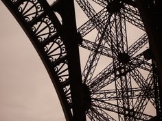 Paris makes us all great photographers! Portion of the Eiffel Tower shot at sunset.