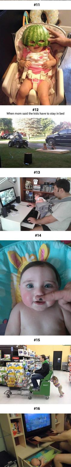Dad parenting playing games