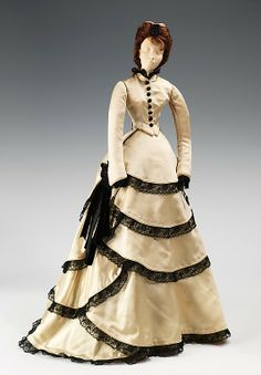"The Metropolitan Museum of Art - ""1870 Doll"", House of Balenciaga, French, 1949. This was a fashion doll given by France to America in thanks for American donations of relief packages after the end of WW2."