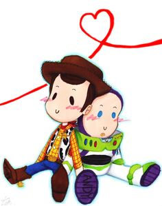 Buzz Lightyear and Woody - Toy Story Disney Toys, Disney Movies, Disney Pixar, Disney Stuff, Toy Story Series, Toy Story 3, Woody, Desenho Toy Story, Dibujos Toy Story