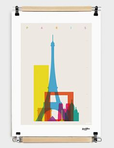 """Shapes of Paris"" by Yoni Alter (UK) Numbered Art Print by @Curioos from $39"