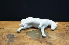 Blanc de Chine porcelain horse #DeChine #Blanc #Chinese #antique #porcelain #miniature #glass #value #antique #kokova A Beast, Ivory White, Four Legged, White Porcelain, Edinburgh, Hand Carved, Lion Sculpture, Miniatures, Horses