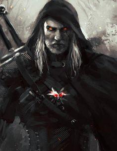 The Witcher,Ведьмак, Witcher, ,Игры,Геральт,Игровой арт,game art