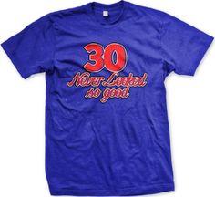 30 Never Looked So Good Mens T-shirt, 30th Birthday Novelty Gag Funny Mens Tee Shirt, XX-Large, Royal