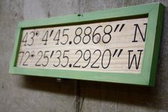 Pallet framed & personalized  Latitude and by GlampAndGritDesign