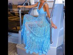 Everkaki Boho Long Dress Women Hollow Out Transparent Beach Vestidos Summer Ladies Maxi Dresses Female 2020 Spring Summer New - purple,xxxl Plain Dress, The Dress, Crochet Fashion, Crochet Clothes, Crochet Bikini, Boho Fashion, Ideias Fashion, Outfits, Detachable Collar
