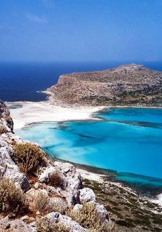 View of Cap Tigani from Balos Lagoon ~ Gramvousa Peninsula, Isle of Kríti (Crete), Greece [photo by Bo Transbol, Silkeborg, Denmark]....
