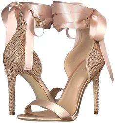 These tie-up sandals rep everything feminine and PRETTY. Hot Shoes, Crazy Shoes, Me Too Shoes, Shoes Heels, Stilettos, High Heels, Pumps, Pretty Shoes, Beautiful Shoes