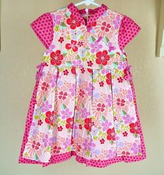Gymboree TEA GARDEN Girls 4T 4 Pink Floral Butterfly Dress Spring Summer #Gymboree #BodiceDress #Casual
