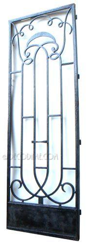 french art deco iron entry door