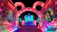 Disney at Harbin International Snow and Ice Festival - An Illuminated Awe-Inspiring Winter Wonderland in China