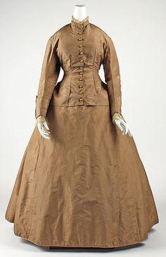 """Bustle Dress, Date: 1865–70 Culture: European Medium: silk"""
