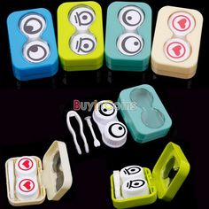 Mini Travel Cute Cartoon Eyes Shape Contact Lens Case Box Container Holder -- BuyinCoins.com