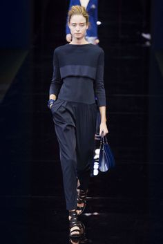 Shades of navy. - SPRING 2015 RTW EMPORIO ARMANI COLLECTION - The Cut
