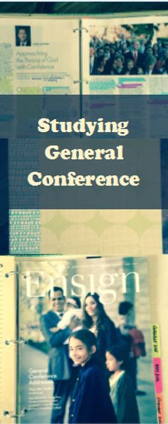 We've been told that General Conference should be studied like our scriptures.