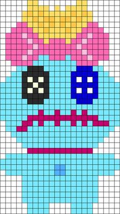 Kandi Patterns for Kandi Cuffs - Characters Pony Bead Patterns Pearler Bead Patterns, Kandi Patterns, Perler Patterns, Beading Patterns, Perler Bead Disney, Perler Bead Art, Perler Beads, Beaded Cross Stitch, Cross Stitch Patterns