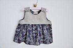 la casetta in Canadà: dress/tunic. linen and cotton. size 18 months