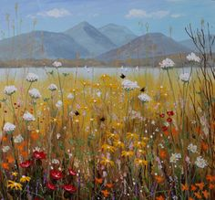 A Meadow By Derwentwater. Oil painting by Jeff Sudders.