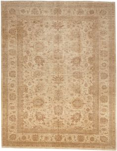Hand Knotted Pakistan Rug - 10′4″ × 13′