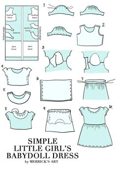Simple #DIY little girl's dress by Merrick White