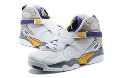 b91b12bd9f5e Jordan 8 With White and Yellow Discount Nike Shoes
