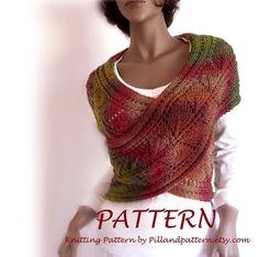 PDF Knitting Pattern sweater vest 2 skeins easy by PillandPattern