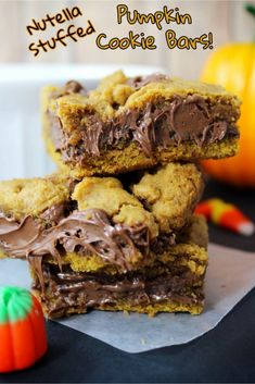 If you are soaking up as many things pumpkin as you can right now, you are not going to want to miss this decadent Pumpkin Cookie Bars Recipe. They are so delicious, and so ooey-gooey, that you will wonder where this recipe has been all your life!
