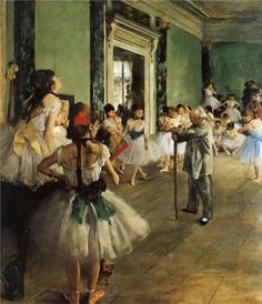 GREAT MASTERS IN THE HISTORY OF ART! Artist: Edgar Degas, 1834-1917 Title: The Ballet Class. Oil on canvas.   Start Date: 1871  Completion Date: 1874 Style: Impressionism   NOTES ON THE ARTIST:  Edgar Degas; born Hilaire-Germain-Edgar De Gas; was a French artist famous for his paintings, sculptures, prints, and drawings. He is especially identified with the subject of dance; more than half of his works depict dancers. Wikipedia Born: July 19, 1834, Paris, France Died: September 27, ...