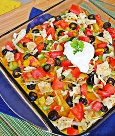 Taco Casserole Recipe Main Dishes with lean ground beef, macaroni ...
