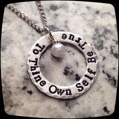 To Thine Own Self be True Sobriety Gift Sobriety by ThatKindaGirl Recovering Addict, Hand Stamped