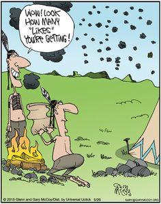 【ツ ƦᗴĄԼԼƴ Ƒᘎᘉᘉƴ ĄᏕᏕƠƦƬᗴƊ ƇƠᘻĪƇᏕ ㋡ ~ Before Social Media there were smoke signals. | Read The Flying McCoys comics @ http://www.gocomics.com/theflyingmccoys/2015/05/26